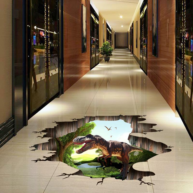3D samolepka na podlahu Dinosaur