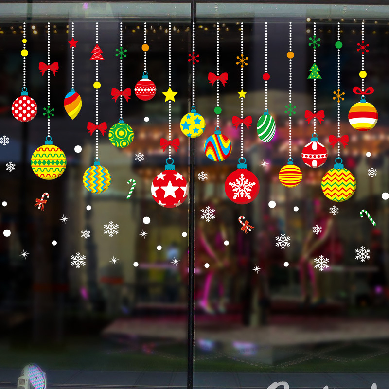 3D samolepka na zeï Vánoèní ozdoby koulièky