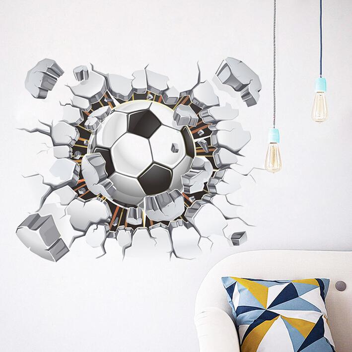 3D samolepka na zeï Fotbalový míè