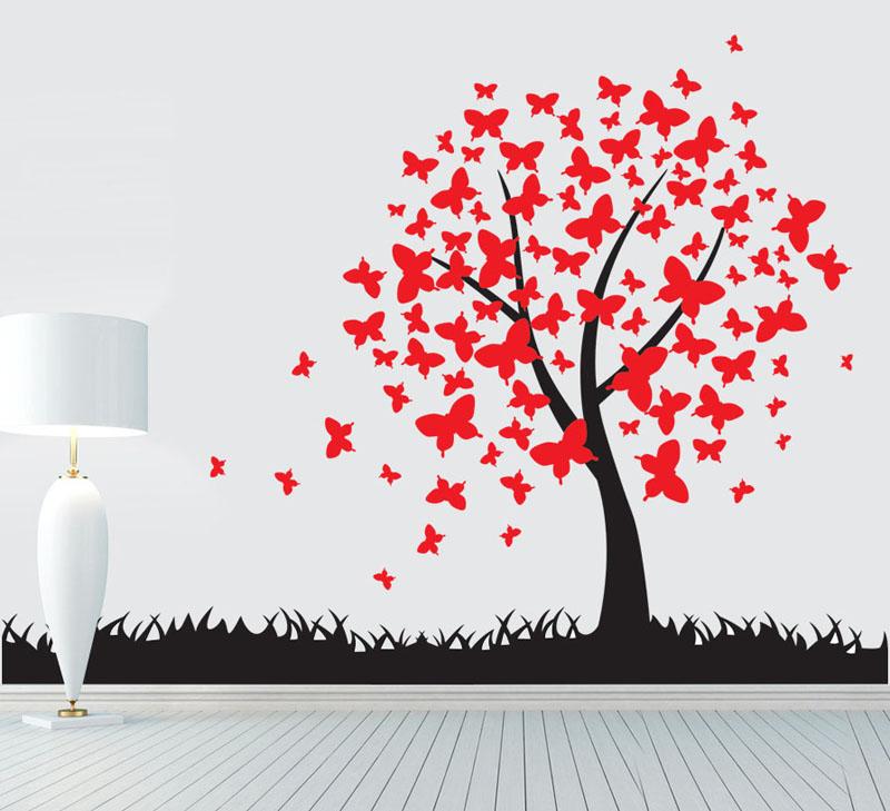 Samolepka na zeï Motýlí strom - zvìtšit obrázek