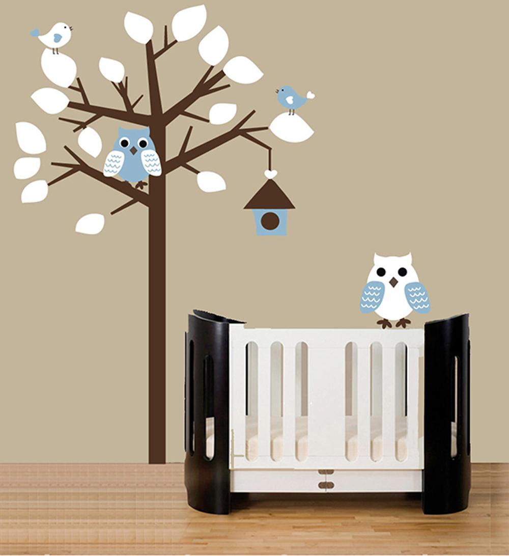 Pastelový strom se sovami - zvìtšit obrázek