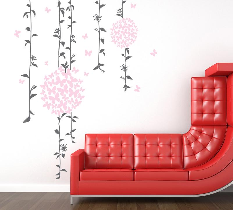 Rostliny s motýlky - zvìtšit obrázek