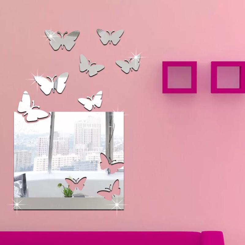 Zrcadlová samolepka Motýlci