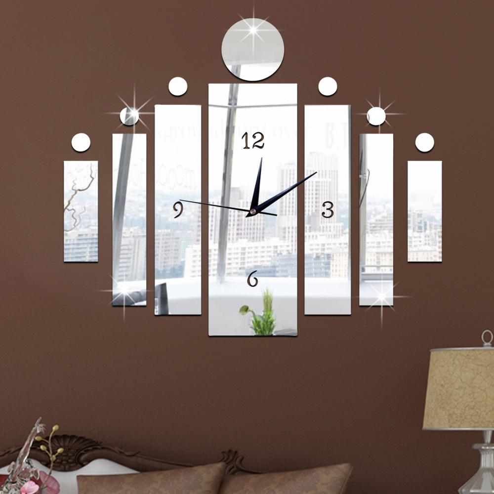 Zrcadlové hodiny Obdélníky s koly