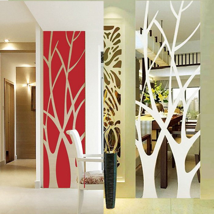 Zrcadlová samolepka Stromy