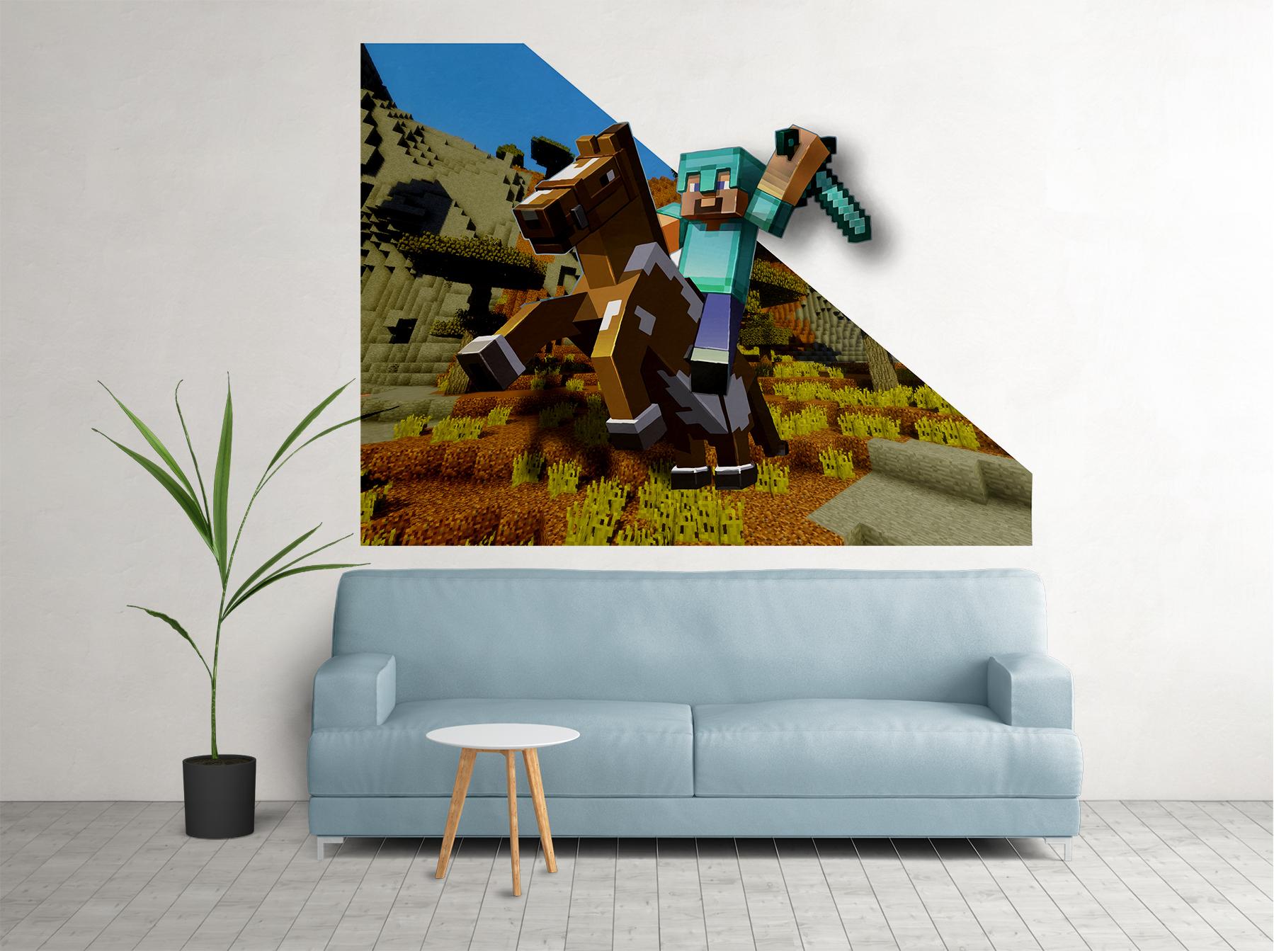 3D bojovník na koni Minecraft - zvìtšit obrázek